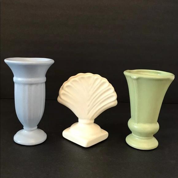 Vintage Haeger Set of 3 Vases ~ Petite Classics Royal Ceramic Art Pottery